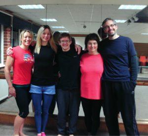 Private yoga lesson students