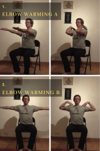 chair yoga routine for elbows