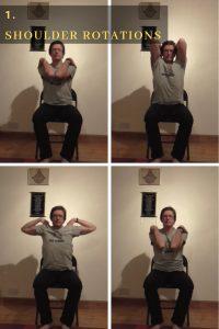 chair yoga, shoulder movements