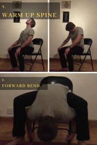 Chair yoga for the spine.