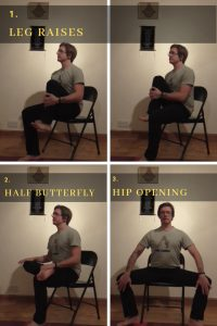 chair yoga hip opening exercises