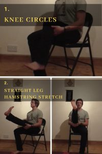 yoga therapy chair yoga knee movements