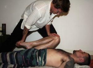 Deep Tissue Yoga Massage - Knee to Chest. Sudbury, Suffolk & Norwich