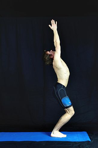Yoga Pose demonstration - Imaginary Chair. Sudbury, Suffolk & Norwich