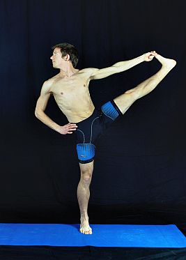Yoga Pose Demonstration - Standing Hand to Foot Balance. In Sudbury, Suffolk & Norwich.