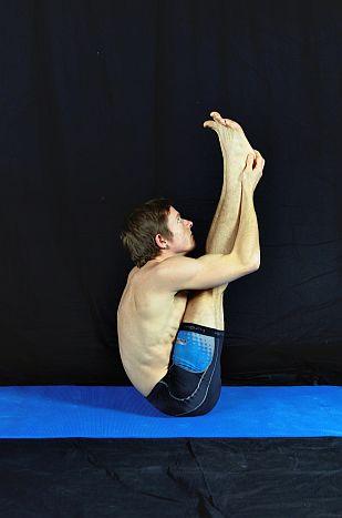 Yoga Pose Demonstration - Upwards Seated Forward Bend. In Sudbury, Suffolk & Norwich.