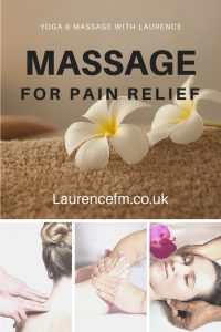 Yoga Massage Therapy poster - pain relief