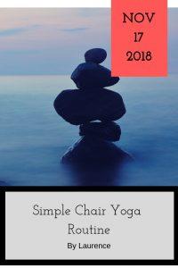 17th November blog entry Chair yoga