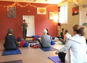 class meditation and yoga lesson